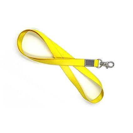 10pcs Amarillo cuello cinta Lanyard Teléfono llavero ID ...