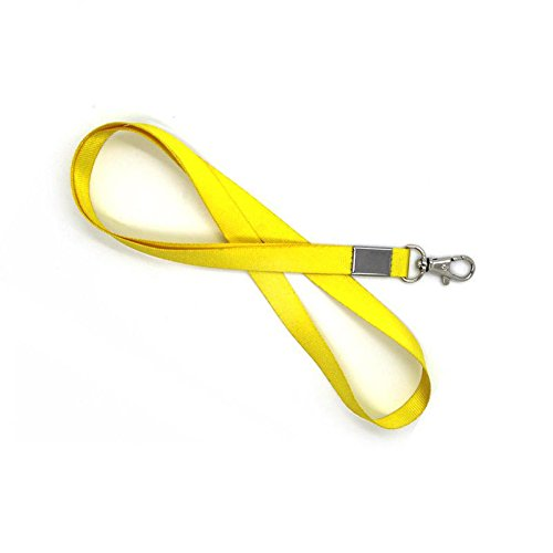 10Pcs Yellow Neck Ribbon Lanyard Phone Key Ring ID Badge Holder - Fix How Glasses Much Arm To