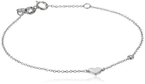 Syd by SE Heart Bracelet with Diamond Bezel