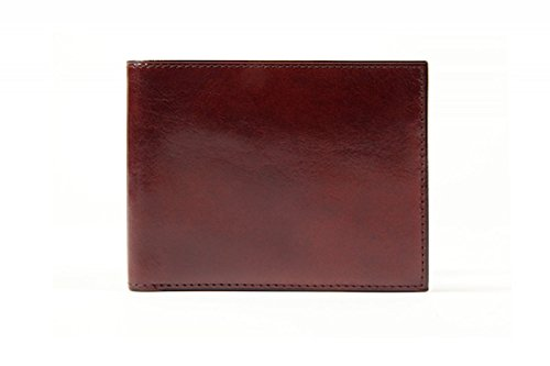Bosca Men's Old Leather Classic 8 Pocket Deluxe Executive Wallet (Dark Brown)
