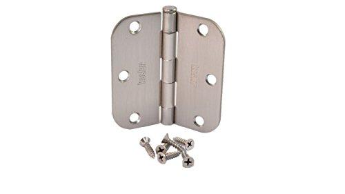 (Pack of 40) Kesler 3 1/2 Inch Satin Nickel Door Hinges (5/8