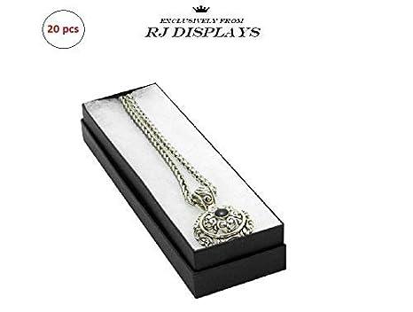 Amazon.com: 20 Negro Mate Color algodón cajas joyas pulsera ...