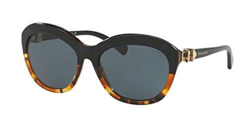 COACH Women's 0HC8184 Black Tortoise Gradient - Coach Usa Sunglasses
