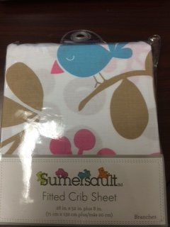 2 for $9.99 Sumersault Fitted Crib Sheet Branches 100% Cotton in Lovely Colors