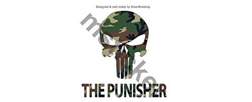 1 Set (2 decal) The Punisher Army Camouflage Sticker Decal Aufkleber Digital Print Car Bumper Auto JDM Racing Tuning Dub VAG Dashboard Notebook Laptop Streetwear Skateboard Surfboard (Fox Stickers Skulls)