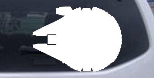 White 3in X 4in -- Star Wars Millennium Falcon Car Window Wall Laptop Decal Sticker -  Rad Dezigns, 3inX4in_White_10484_22