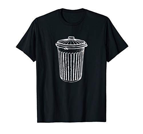Mens Trash Can Shirt Funny Halloween Costume Gift Tee Medium Black