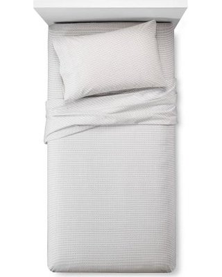 Room Essentials Easy Care Sheet Set - Zigzag Ebony White - Size: Cal-King (Sheet Set Target)