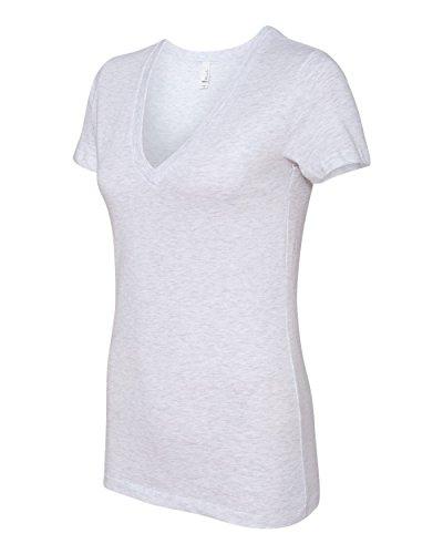 Bella 6035 Womens Jersey Short Sleeve Deep V-Neck Tee - Ash, 2XL