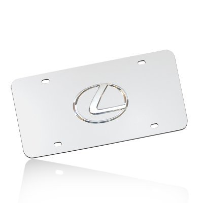 (Au-Tomotive Gold, INC. Lexus 3D Logo Chrome Stainless Steel License Plate)