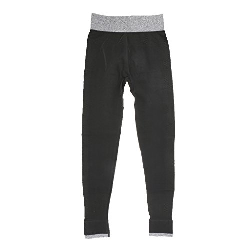 Gazechimp 2 Piezas Ropa Deportiva Sujetador Empujar Hacia Arriba + Pantalones de Yoga Polainas Activewear azul negro