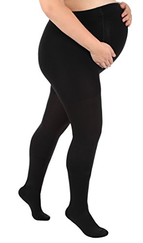 (Absolute Support Graduated Compression Opaque Maternity Pantyhose 30-40mmHg Closed Toe)
