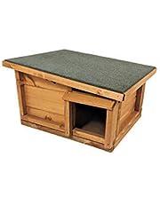 Maison pour hérissons - refuge pour animaux en bois massif