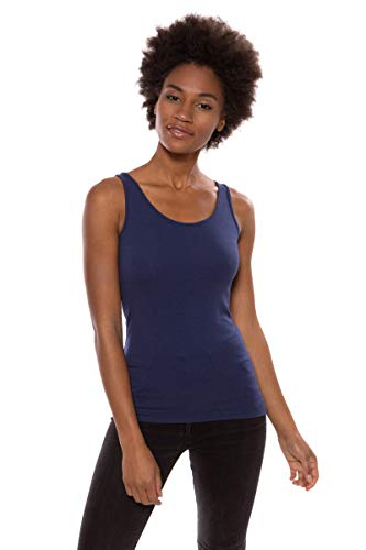 Women's Moisture Wicking Tank Top - Classic Layering Tops by Texere (Mesatee, Gulf Blue, Large) Comfortable Jersey Pajama Tops for Women TX-WB116-002-GFBU-R-L