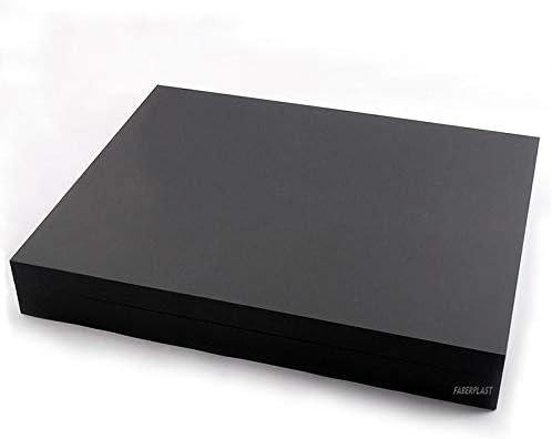 Faberplast Caja METACRILATO Plana Negro Mate: Amazon.es: Hogar