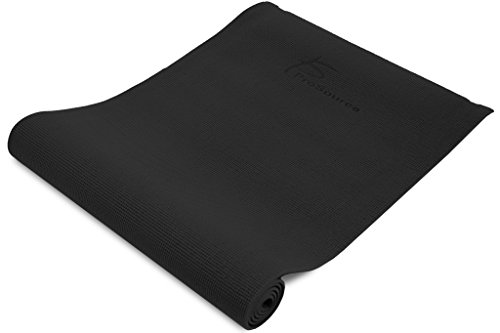 """ProSource Original Yoga Mat ¼"""" Thick for Comfort and Stability with Carrying Straps –Choose your color"""