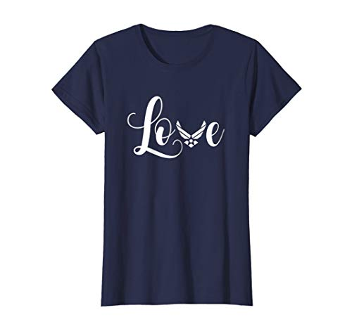 Womens Womens US Air Force Proud Girlfriend Novelty T-Shirts