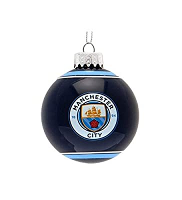 Manchester City F.C. Glass Bauble (3 inches Diameter)