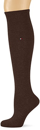 Tommy Hilfiger Damen Socken TH 98% COTTON KNEEHIGH 1P, Gr. 39/42, Braun (kensington brown 937)