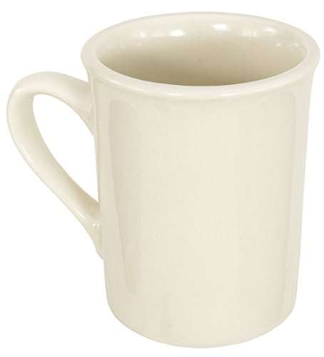 Vitrified Ceramic Mug - Crestware American White Coffee Mug, 8 Ounce - 36 per case.