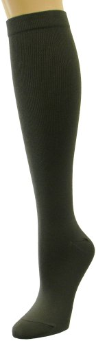 INCREDIWEAR Knee High Dress Socks, Charcoal, Medium, 0.03 Pound