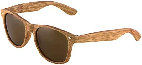 Unisex Retro Classic Glasses Wood Pattern Frame Clear Or Dark Lens