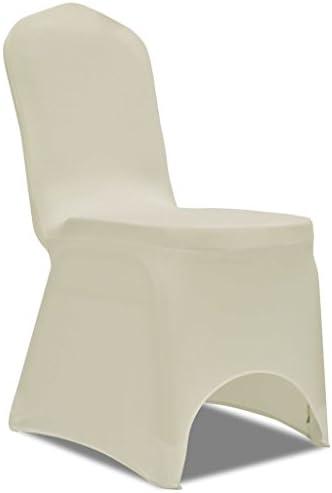 50 sillas de Crema de poliéster para Bodas, Fiestas, Banquetes, reuniones