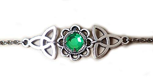 Moon Maiden Jewelry Celtic Triquetra Trinity Knot Headpiece Bright Green ()
