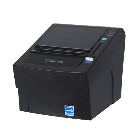 (SeWoo Thermal Receipt Printer, POS Printer, Ethernet, Black)