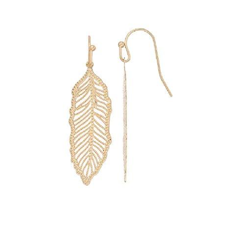 LC Lauren Conrad Openwork Nickel Free Feather Drop (Lauren Conrad Jewelry)