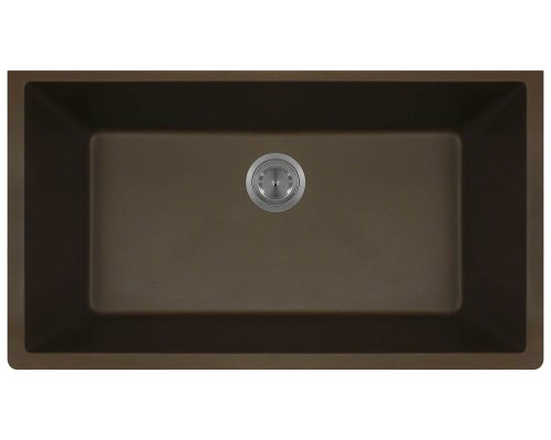 848 Mocha Undermount Single Bowl Composite Granite Kitchen Sink (Mocha Kitchen Sink)