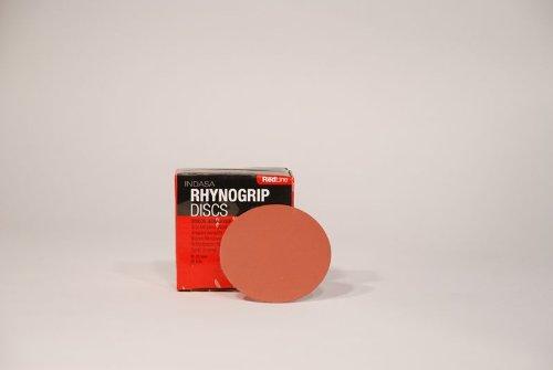 P60 Grit 3'' Rhynogrip RedLine Hook & Loop Sanding Discs 50-Pack