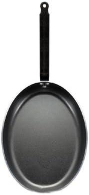 De Buyer 8181.32 Choc Po/êle /à Poissons Ovale Antiadh/ésive Aluminium Rev/êtu 32x23 cm Queue Feuillard Rivet/ée