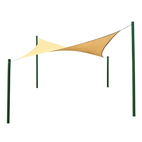 LIXIONG Outdoor Insulation Net Garden Plant Cover Sunscreen Dust-Proof for Greenhouse, Customizable (Color : Green, Size : Triangle - 3.6x3.6x3.6m) ()