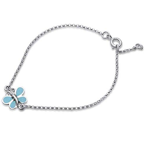Petite Dragonfly Bracelet 925 Sterling Silver