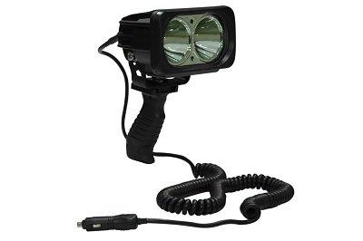 High Intensity 20 Watt LED Handheld Spotlight - 16' Coil Cord with Cigarette Plug(-20° Wide Spot-16' Cig Coil)