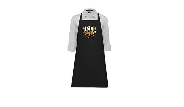 CollegeFanGear UMBC Full Length Black Apron Arched UMBC Retrievers