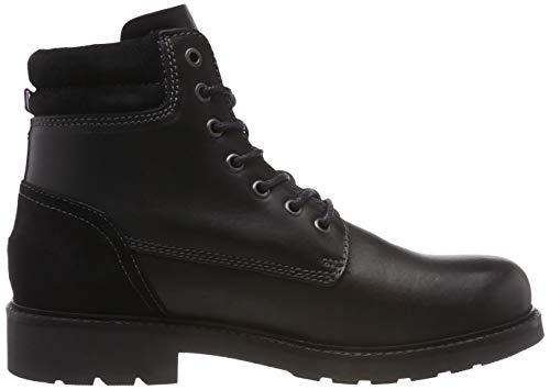 Uomo Stivali Hilfiger Boot 990 Combat Leather black Tommy Active Nero ZBYHqxZIw