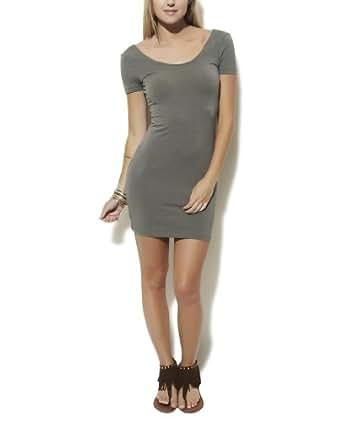 Wet Seal Women's Cap Sleeve Bodycon Dress L Olive