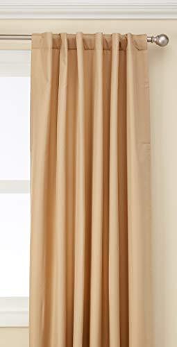 - Curtainworks Saville Solid Thermal Room Darkening Drape, 52 by 120