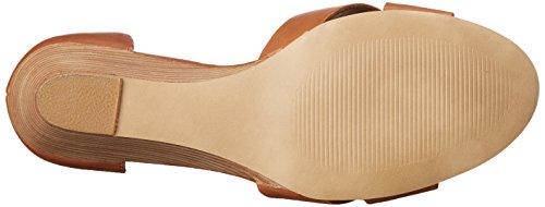 Steve Madden Women's Nilla Wedge Sandal, Bone Cognac Leather