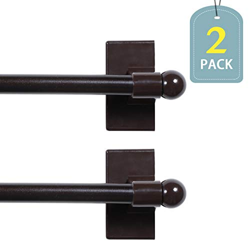 H.VERSAILTEX Appliance Petite Ball Magnetic Rods Suitable for Any Steel Surface, 16 to 28 Inch, 1/2 Inch Diameter, Brown, 2-Pack