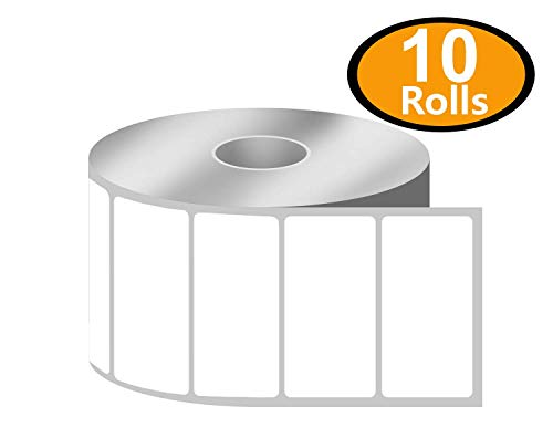 BETCKEY - 2 x 1 UPC Barcode & Address Labels Compatible with Zebra & Rollo Label Printer,Premium Adhesive & Perforated[10 Rolls, 13000 Labels]