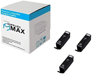3//PK-500 Page Yield PGI-250XLBK/_3PK SuppliesMAX Compatible Replacement for Canon PIXMA iP-7220//8720//MG-5420//6620//7520 Black High Yield Pigment Inkjet