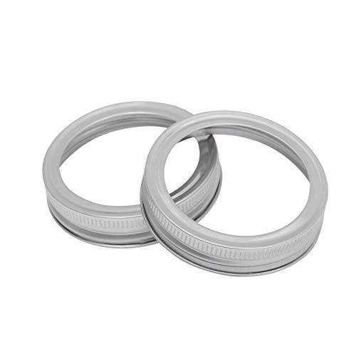 UPKOCH 5pcs Wide Mouth Jar Rings Replacement Tops Band Compatible for Mason 70mm
