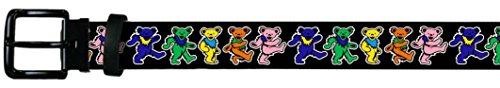 Grateful Dead Dancing Bear Color Leather Print Belt up to 48