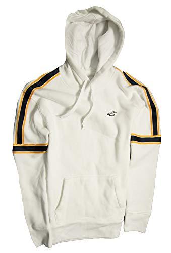 Hollister Men's Hoodie Sweatshirt Pullover (White 0837, XL) (White Hollister Sweatshirt)