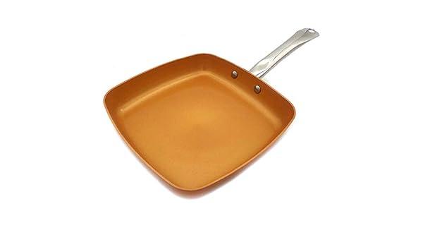 SODIAL Sarten De Cobre Antiadherente con Revestimiento Ceramico Y ...