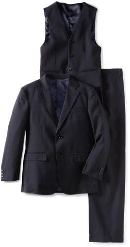 American Exchange Big Boys' Solid Sport Suit, Navy Blue, 20