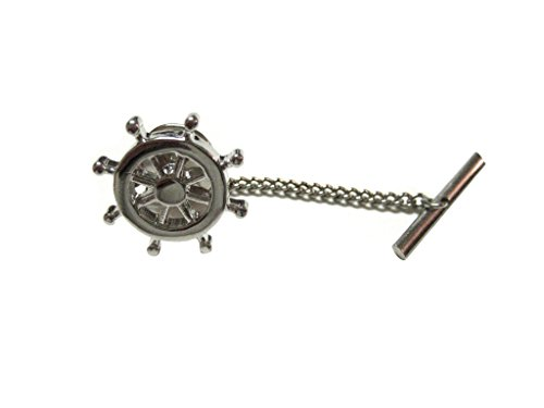 Nautical Ship Steering Wheel Helm Tie Tack
